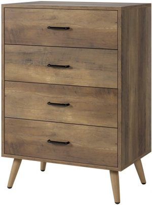 Brown, Wood Chest of Drawers